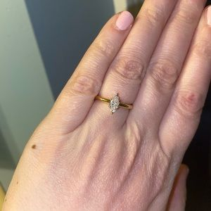 Marquise Moissanite Ring .54 C in 10k Gold